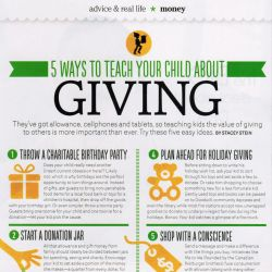 Today's Parent, 5 ways to teach your child about giving