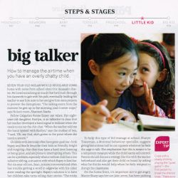 Today's Parent, Big talker