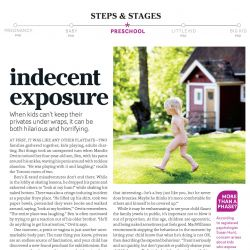 Today's Parent, Indecent exposure