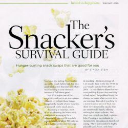 Canadian Living, The snacker's survival guide
